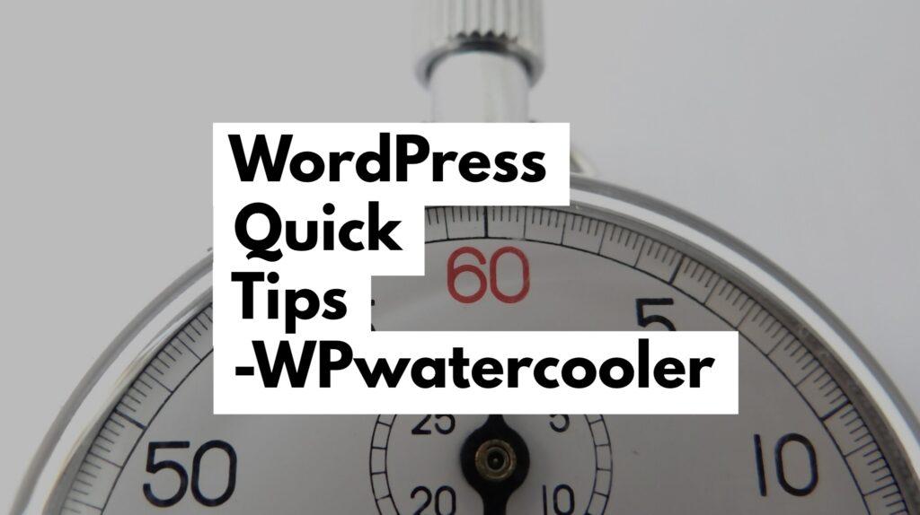 YouTube - WordPress Quick Tips