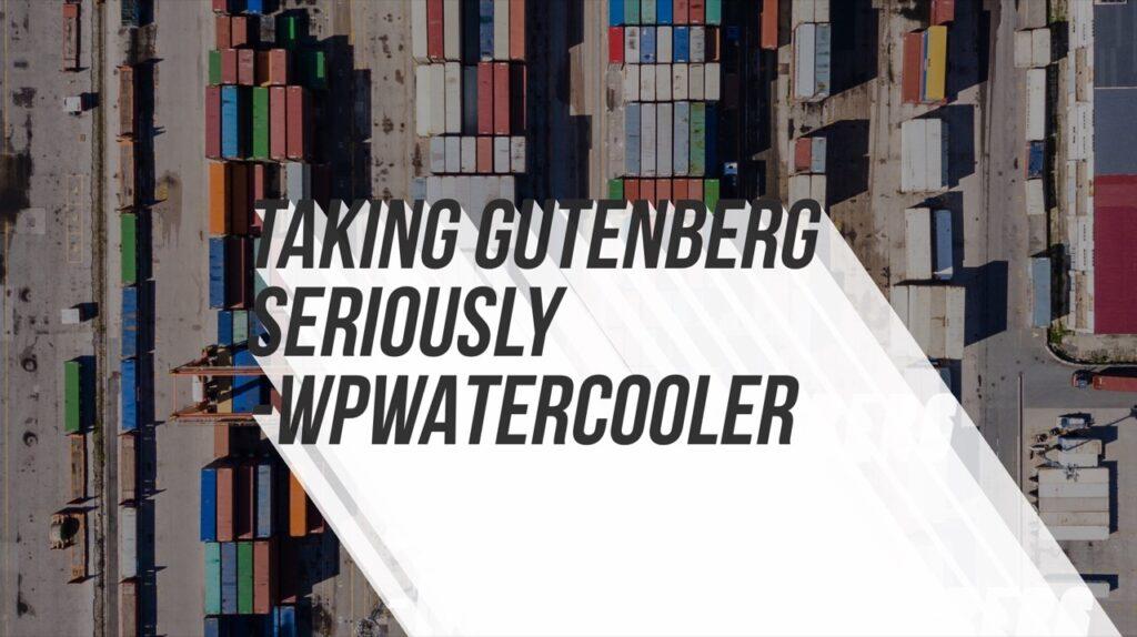 YouTube - Taking Gutenberg Seriously
